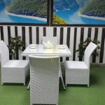 Фото-Искусственный ротанг фабрика Sunline Design мебель Rose 4 white