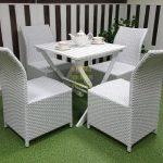 Фото-Комплект садовой мебели Arizona 4 white