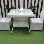 Фото-Обеденная мебель из ротанга Rose 2 white Sunlinedesign