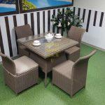 Фото-Плетеная мебель Rose 4 beige- обеденная