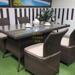 Фото-Плетеная мебель Rose royal brown