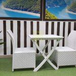 Фото-Садовая мебель Arizona 2 white Sunline Design