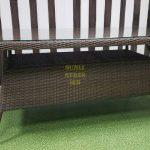 Фото-Стол из искусственного ротанга Samurai brown 160