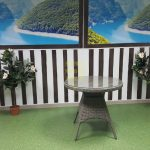 Фото-Стол плетеный Samurai D80 natur