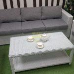 Фото-Искусственный ротанг мебель Louisiana white grey