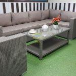 Фото-Лаунж мебель из ротанга Louisiana corner mocco set