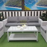Фото-Плетеная мебель Louisiana white grey