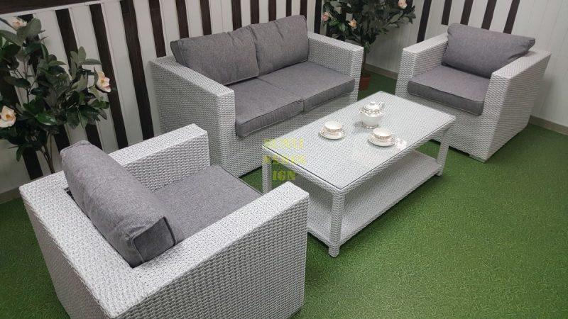Фото-Мебель плетеная Louisiana white&grey Sunlinedesign