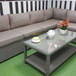 Фото-Модульный диван из искусственного ротанга Louisiana mocco
