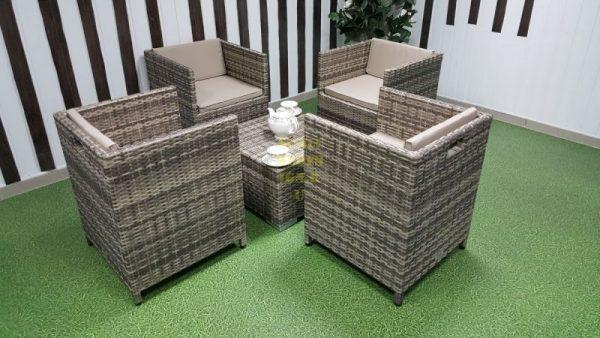 Фото-Плетеная мебель Barbados beige cafe set
