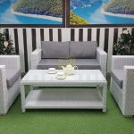 Фото-Плетеная мебель Louisiana cafe set white&grey
