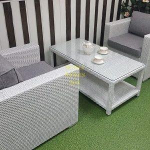 Фото-Плетеная мебель Louisiana white&grey cafe set