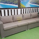 Фото-Плетеный диван Louisiana mocco 4-х мест.