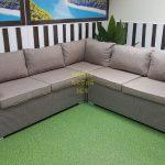 Фото-Плетеный диван угловой Louisiana mocco