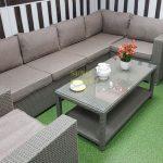 Фото-Угловой диван из искусственного ротанга Louisiana mocco