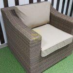 Фото-Glendon кресло из искусственного ротанга