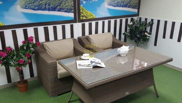 Фото-Плетеная мебель Glendon 4 dining