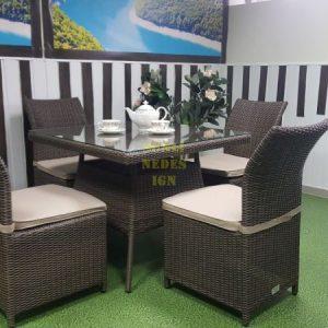 Фото-Плетеная мебель столовая Rose royal brown 4