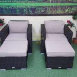 Фото-Лаунж мебель из искусственного ротанга Acoustic relax