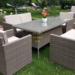 Фото-Infinity & Samurai dining patio set мебель из ротанга