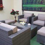 Фото-Садовая плетеная мебель Allegro natur&beige set 3