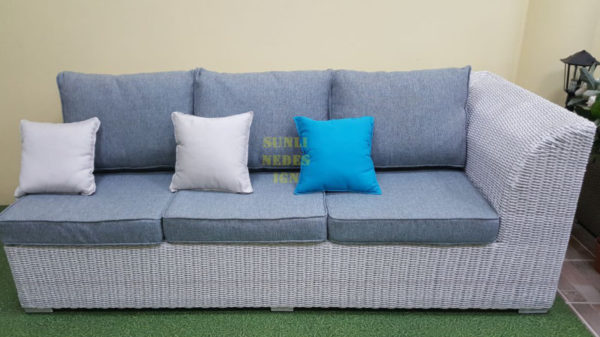 Фото-Atlantic плетеный диван модуль правый