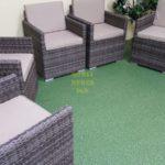 Фото-Infinity brown grey кресло ротанг искусственный