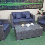 Фото-Мебель искусственный ротанг Allegro natur&grey set 3