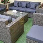 Фото-Мебель из искусственного ротанга Allegro natur&grey