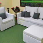 Фото-Мебель из искусственного ротанга Pegas lounge set white