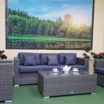 Фото-Мебель из ротанга Allegro natur&grey set 2