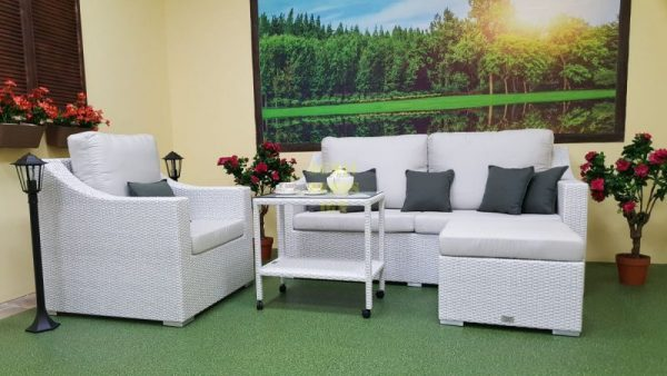 Плетеная мебель Pegas lounge set white