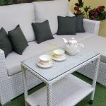 Фото-Pegas patio set мебель из ротанга белая