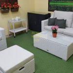 Фото-Pegas white комплект плетеной мебели
