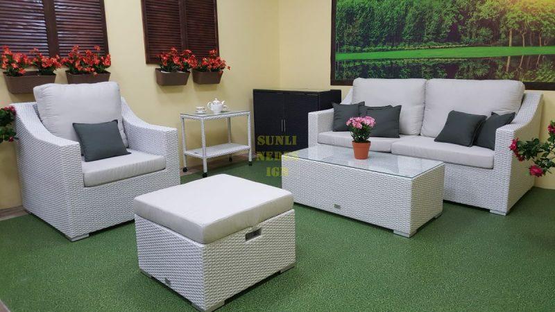 Фото-Pegas white мебель из ротанга