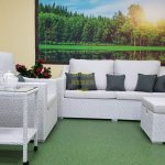 Фото-Плетеная мебель Pegas lounge set white