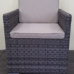 Фото-Плетеное кресло Infinity brown grey