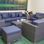 Фото-Садовая мебель Allegro natur&grey