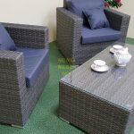 Фото-Садовая плетеная мебель Allegro natur&grey cafe set