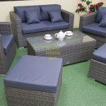 Фото-Садовая плетеная мебель Allegro natur&grey set 4