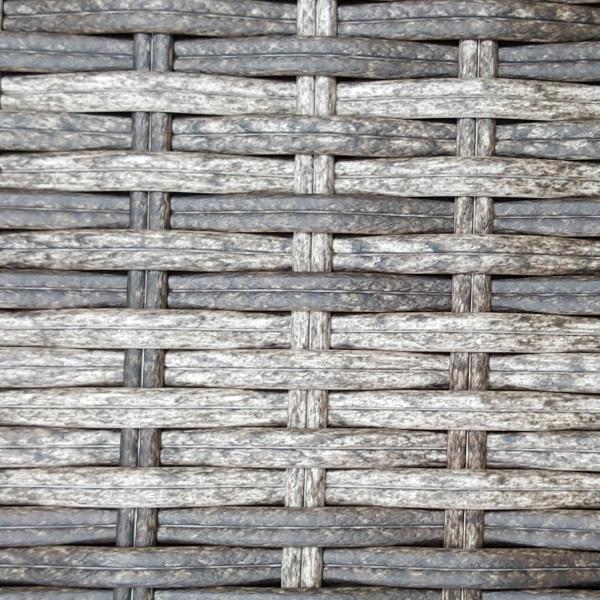 Фото-Искусственный ротанг 2 Round Royal brown grey