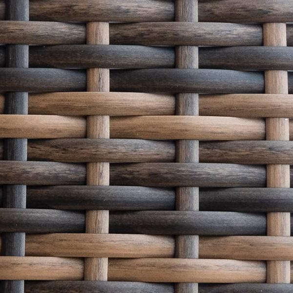 Фото-Искусственный ротанг Flat Teak brown производство мебели