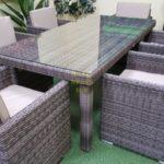 Фото-Infinity brown grey 6 Комплект мебели из искусственного ротанга обеденный
