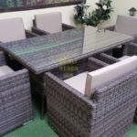 Фото-Мебель из искусственного ротанга Infinity & Samurai brown grey