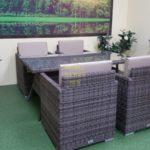 Фото-Обеденная плетеная мебель Infinity & Samurai brown grey 4