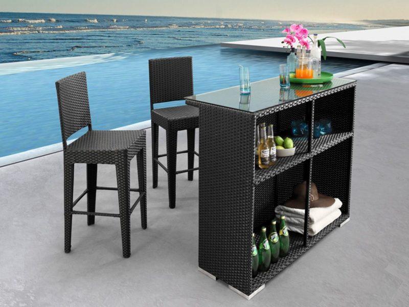 Фото-Плетеная барная мебель Coral Patio Bar