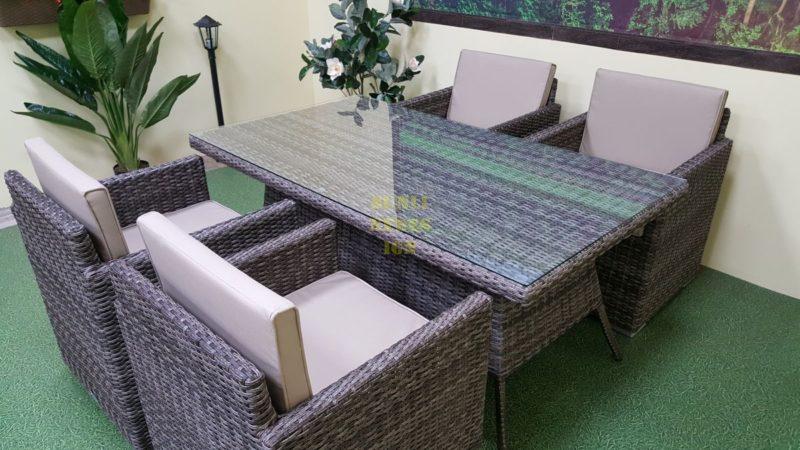 Фото-Плетеная мебель Infinity & Samurai brown grey 4