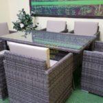 Фото-Ротанг искусственный мебель Infinity & Samurai brown grey