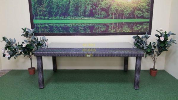 Фото-Стол плетеный Infinity brown grey 200х100 Sunlinedesign