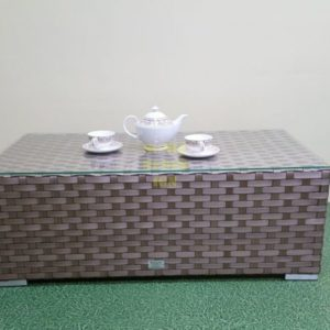 Фото-Cinzano beige стол кофейный плетеный ротанг